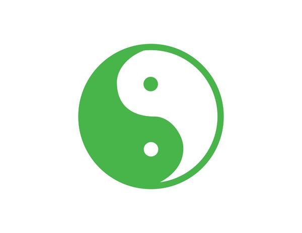 yin yang verde